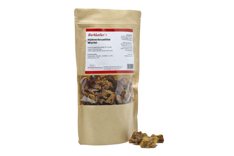 Hühnerbrustfilet Würfel 250g - Barkhofen Tiernahrung